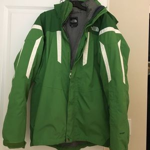 The north face green vortex triclimate jacket L